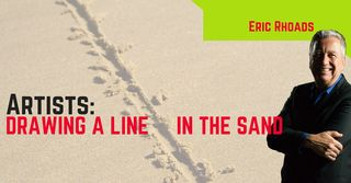 Eric Rhoads Artists Drawing a Line in the Sand Marketing